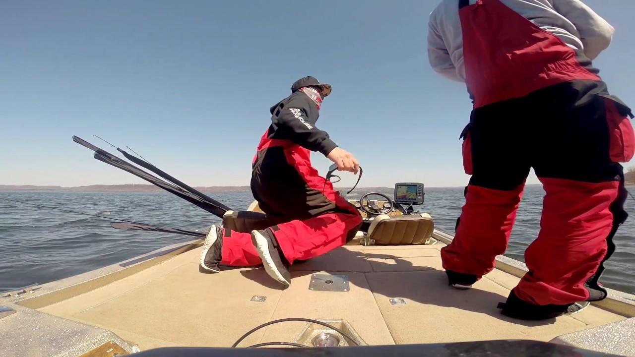 Early spring lake pepin smallie fishing 1 2015 youtube for Lake pepin fishing report