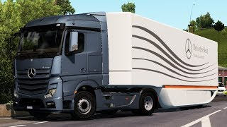 [1.34] Euro Truck Simulator 2 | AeroDynamic Trailer v 1.0 by AM | Mods