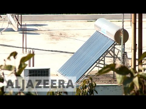 Lebanese town installs solar panels to deal with electricity blackouts