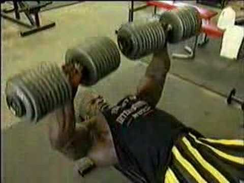 Big Ronnie 200lb Dumbell Bench Youtube