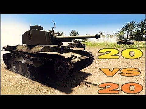 20 CHI-NU vs 20 M4 SHERMANS - Men of War Assault Squad 2 - Editor Scenario #106