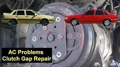 AC Problems, Compressor Clutch Repair, Volvo 850, V70, S70, etc - Auto Repair Series