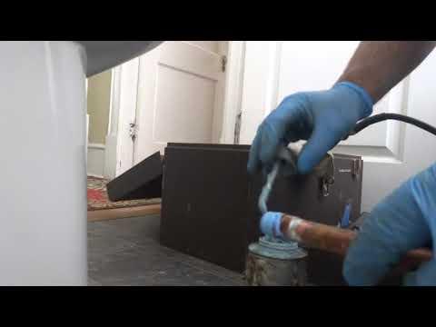 Leaking Brass Water Pipe