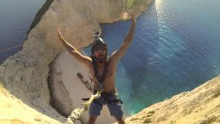 6 Seconds from Impact/Rope Swing Zakynthos/ BASE JUMP VS ROPE SWING/