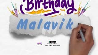 Happy Birthday Malavika