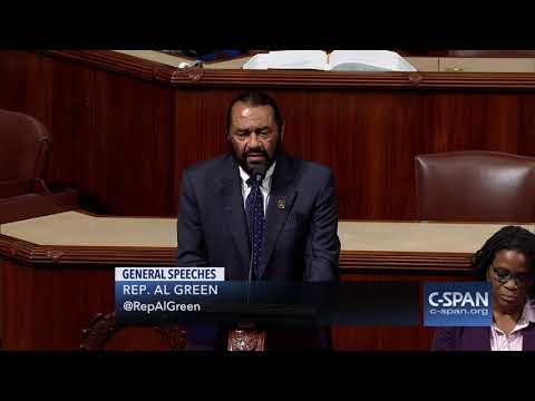 Rep. Al Green (D-TX) on Criteria for Impeaching the President (C-SPAN)