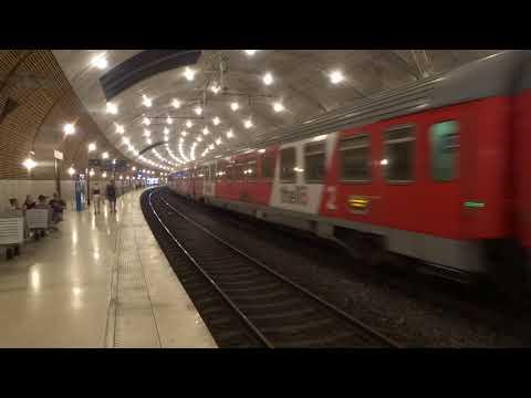 Thello train arriving at Monaco Monte Carlo