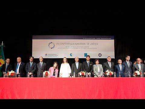 Acto de apertura de la VII Conferencia Nacional de Jueces