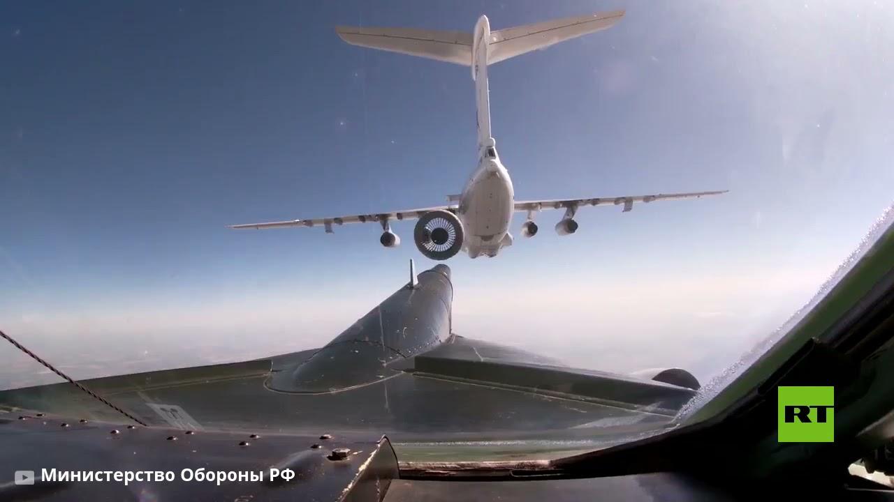 الدفاع الروسية تظهر تزويد قاذفات تو-95 الاستراتيجية بالوقود في الجو  - نشر قبل 8 ساعة