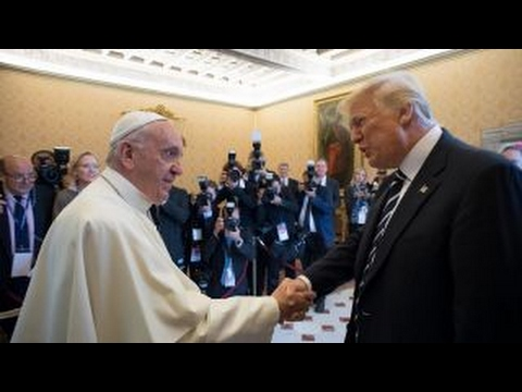 Trump meets Pope Francis and the media creates faux controversy?