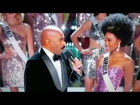 Crazy Jamaican woman reaction to Miss Jamaica