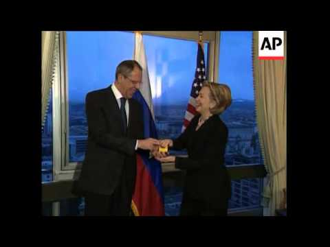 Secretary of State Hillary Rodham Clinton gave Russian Foreign Minister Sergey Lavrov with a 'reset