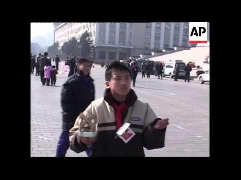 New Year celebrations in Kim Il Sung Square, street scenes