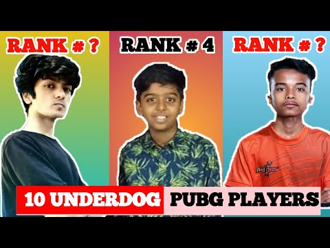 Top 10 Pubg Mobile Players In India 2020 | underdog player  | Best player