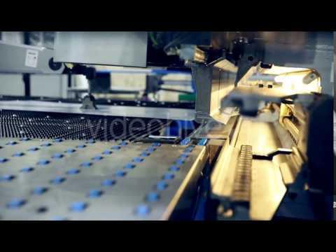 Metal Bending Machine On a Modern Industrial Factory. - Stock Footage | VideoHive 14877435
