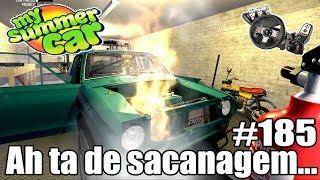 My Summer Car - MEU CARRO PEGOU FOGO NA GARAGEM! #185