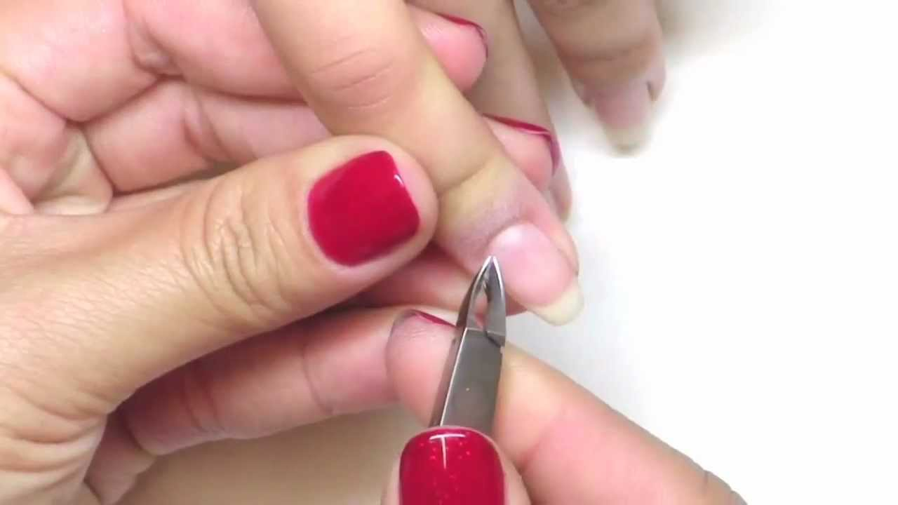 NAILS Troubleshooter: Using A Cuticle Nipper Correctly - YouTube