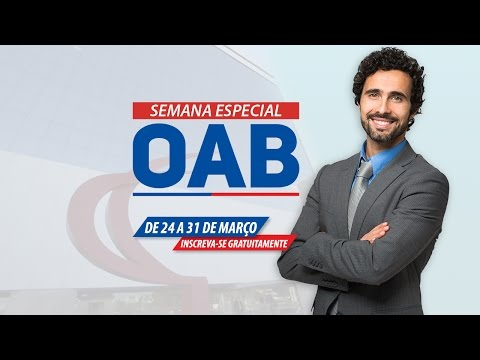 Semana Especial OAB - Direito Penal | Ao Vivo