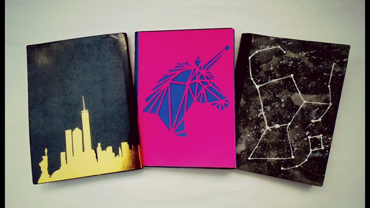 Portadas Para Cuadernos Decora Tus Libretas Con Dibujos: DIY... Decora Tus Cuadernos (3 Ideas) Fácil
