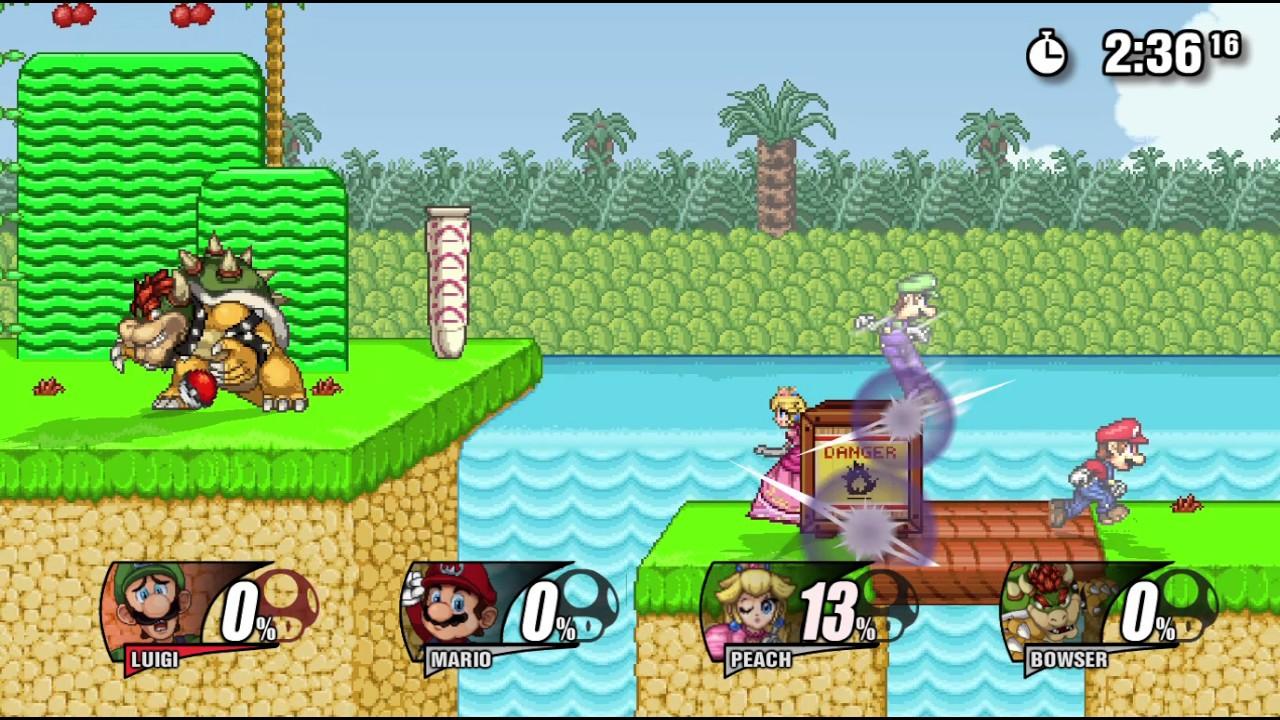 Super Smash Flash 2 Beta: Luigi Gameplay - Full download
