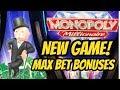 NEW GAME! MONOPOLY MILLIONAIRE SLOT MACHINE-BONUSES - YouTube
