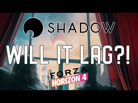 Shadow PC Forza Horizon 4 - Full Latency Test and Demo on Nvidia 1060 6GB GPU