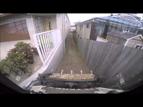 Terex PT30 Turbo Air cab Gopro 4 very tight back yard Brisbane Mini Excavations