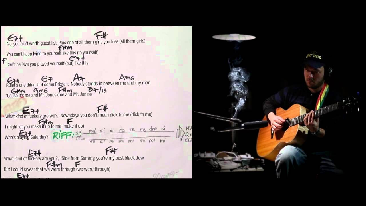 Amy winehouse me and mr jones acoustic cover instrumental chord amy winehouse me and mr jones acoustic cover instrumental chord tutorial youtube hexwebz Choice Image