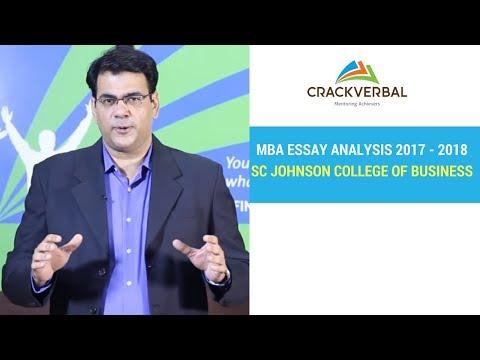 Cornell University SC Johnson College of Business Essay Analysis 2017 - 2018