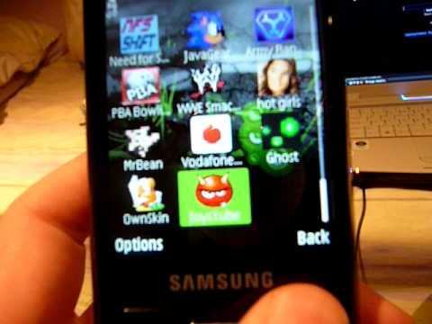 Nokia themes on the  Samsung I8510