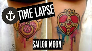 ►TATTOO FLASH◄ time-lapse sailor moon en acuarela