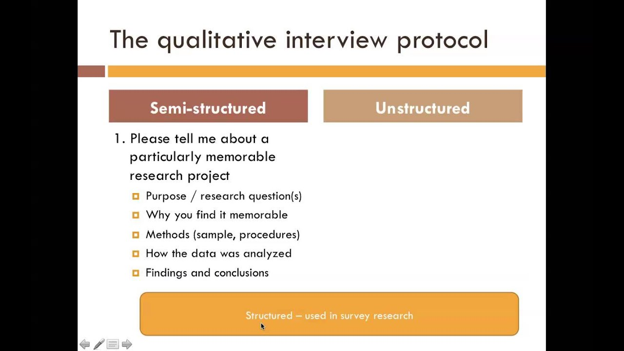 Types of interview protocols youtube for Qualitative research interview protocol template