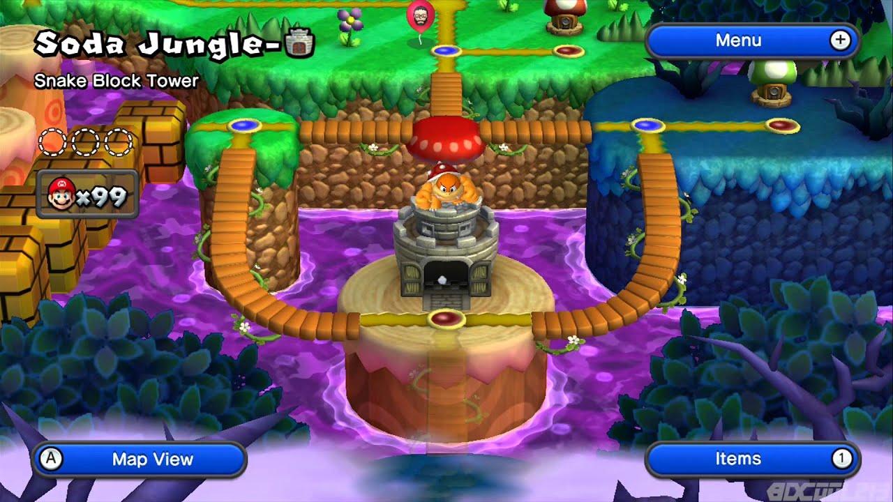 New Super Mario Bros U Playthrough Part 9 Soda Jungle Part 1