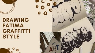 How to draw fatima graffitti