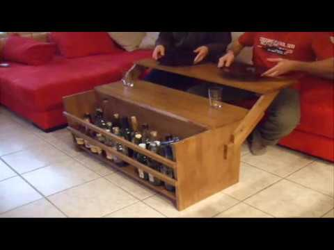 table basse tablette repas youtube. Black Bedroom Furniture Sets. Home Design Ideas
