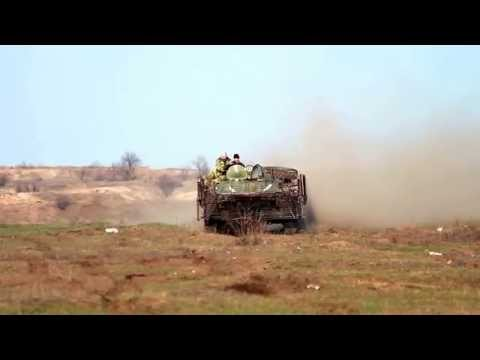 BTR-80 off-road test