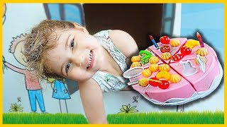 Cake Ice Cream decoration - play with Eylul - fun for Kid game - Tontik Tv