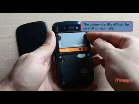 Blackberry Torch 9800: Removing backside/battery/SIM/SD-card