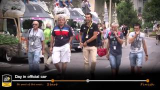 Day in official car - Tour de France - Discover France