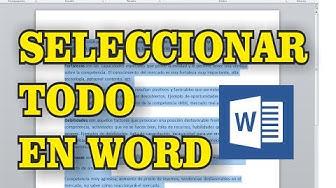 Como seleccionar todo en WORD | Curso de word.