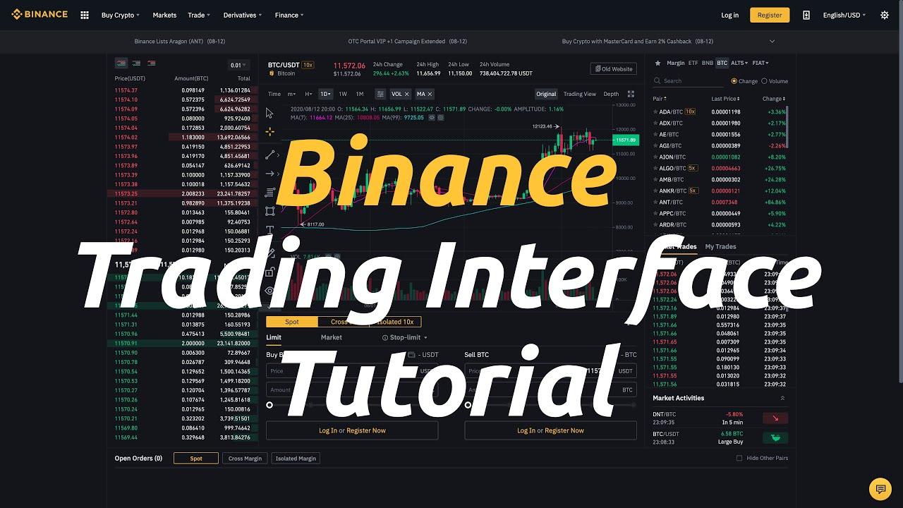 Binance Trading Interface Tutorial