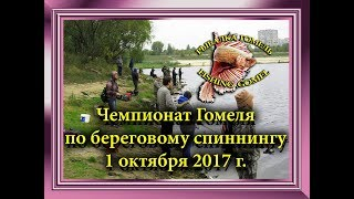 Чемпионат Гомеля по Береговому спиннингу. 1 октября 2017 г.