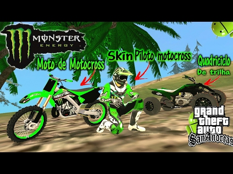 PACK MOTOCROSS {Monster Energy )LEVE (DFF E TXD) [gta sa android] by  GAMEPLAYS GTA