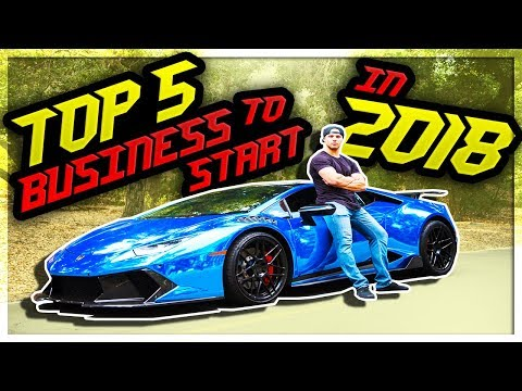 Top 5 ONLINE BUSINESS You Can Start In 2018 With Little Or N