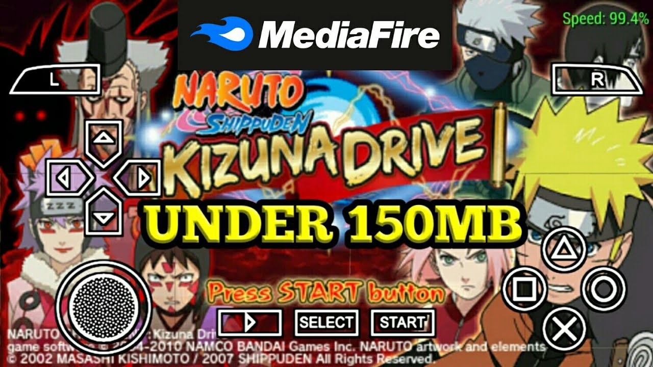 How To Download Naruto Shippuden Kizuna Drive PSP Game Under 150MB/Media  Fire Link/100% Real - YouTube