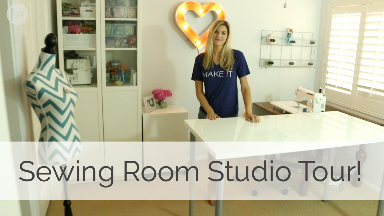Best Sewing Room Design Ideas Part - 23: Sewing Room Studio Tour! - YouTube
