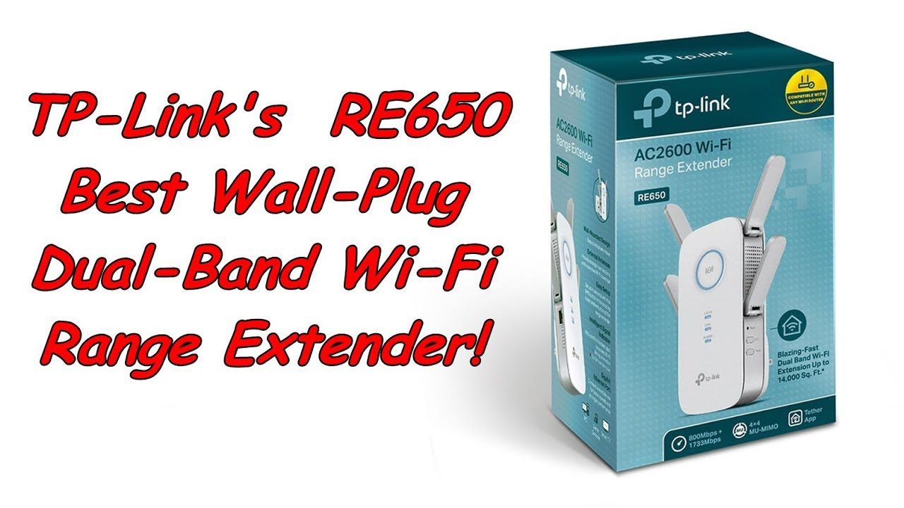 TP-Link RE650, Wall-Plug Dual-Band AC2600 Wi-Fi Range Extender