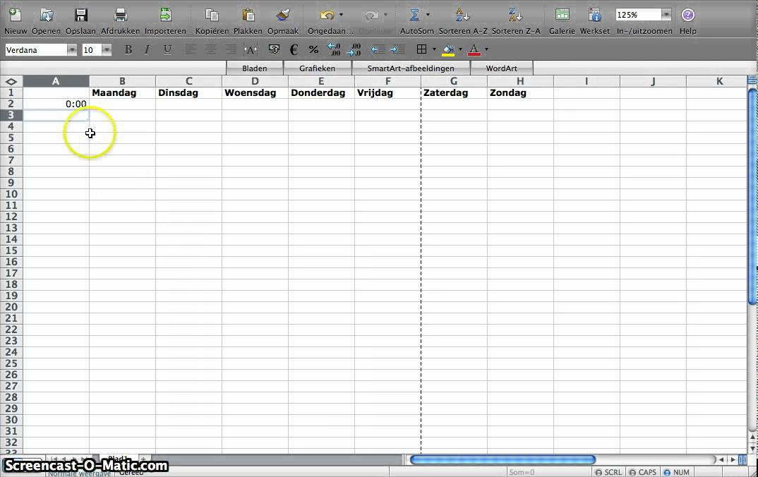 Weekplanning maken in Excel - YouTube