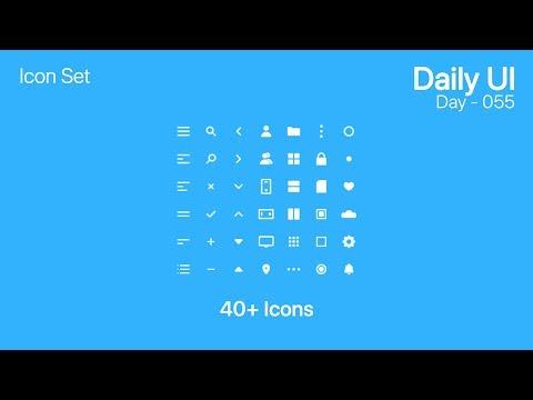Daily UI - Day 055 - Icon Set (40+ Icons)