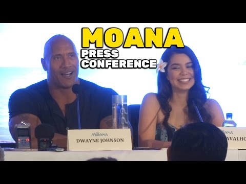 """Moana"" FULL press conference with Dwayne Johnson, Lin-Manuel Miranda, Auli'i Cravalho"